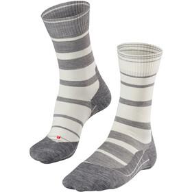 Falke TK5 Stripe Sokken Dames grijs/wit